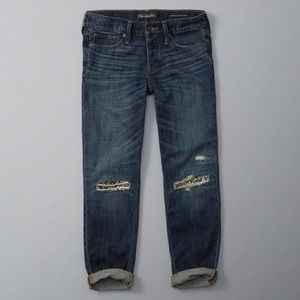Abercrombie Boyfriend Jeans with embellished knees